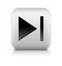 Media player icon with next sign vector image