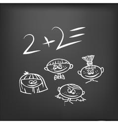 school desk vector image