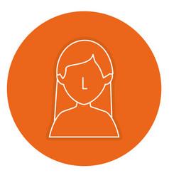 beautiful woman shirtless avatar character vector image
