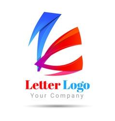 Letter K logo icon Volume Logo Colorful 3d Design vector image vector image