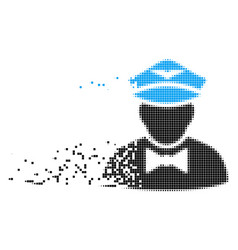 Airline steward moving pixel icon vector