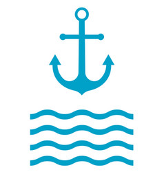 Anchor icon sign vector