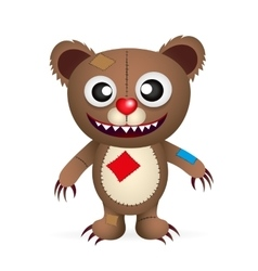 Angry cartoon bear vector