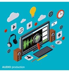 Audio production montage concept vector