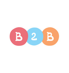 B2b concept business-to-business business vector