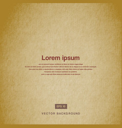background design texture old paper brown vector image