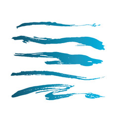 blue abstract grunge curly brushes spring sea vector image
