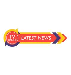 Breaking news lower third tv news bar vector