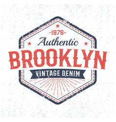 brooklyn authentic vintage emblem vector image