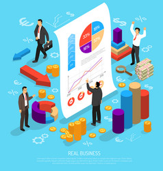 Business infographic conceptual composition vector