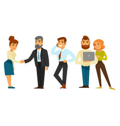 Business people team while working time isolated vector