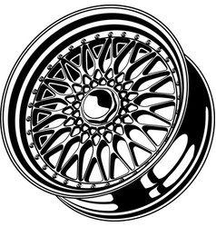 car wheel 11 vector image