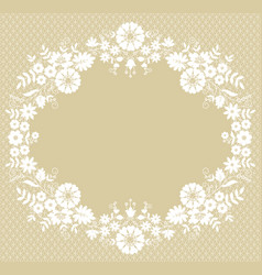 card with lace frame vector image
