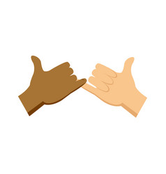 cartoon hands pinky promise gesture image vector image