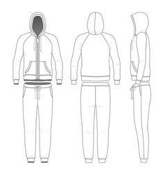 Clothing set man hoodie and pants vector