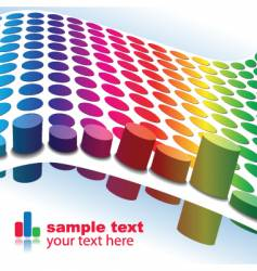 colorful graphs vector image