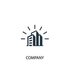 company icon simple element company vector image
