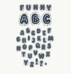 cute hand drawn rounded font vector image