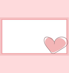 cute pink heart with white background vector image