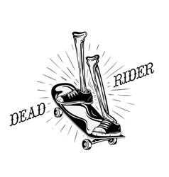 Dead rider logo vector