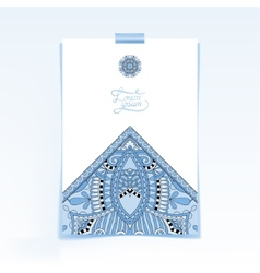 decorative sheet of paper with blue colour vector image