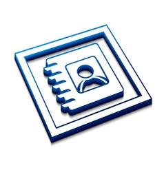 directory web icon vector image