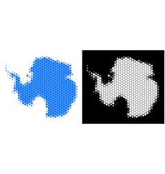 dot halftone antarctica map vector image
