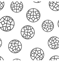 earth planet icon seamless pattern background vector image