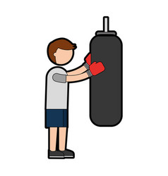 ethlete practicing boxing avatar vector image