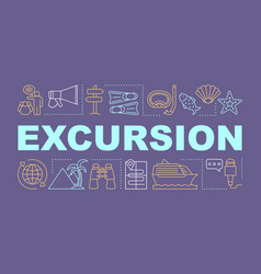 Excursion word concepts banner vector