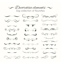 Flourishes hand drawn dividers set vector