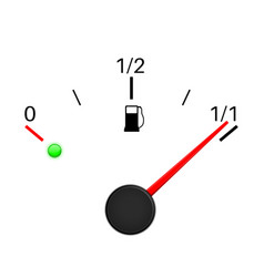 Fuel gauge full tank vector