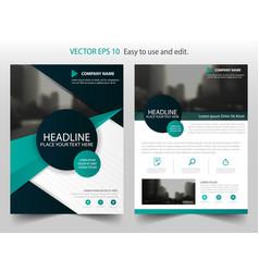 Green black abstract circle brochure annual vector