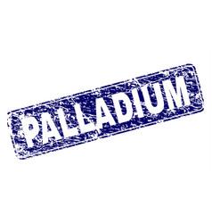 Grunge palladium framed rounded rectangle stamp vector