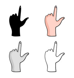 Hand touch icon in cartoon style isolated on white vector