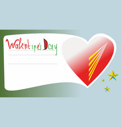 Happy valentines day greeting card 2020 vector