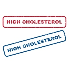 High Cholesterol Rubber Stamps vector