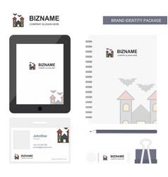 Hunted house business logo tab app diary pvc vector