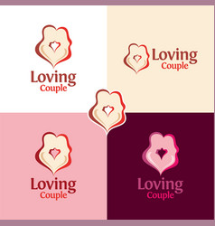Loving couple vector