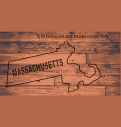 Massachusetts map brand vector