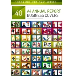 Mega collection of 40 business annual report vector image
