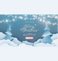 merry christmas sale 50 off background vector image
