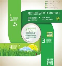 Modern ecology design layout vector image vector image