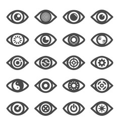 modern eye symbol collection vector image