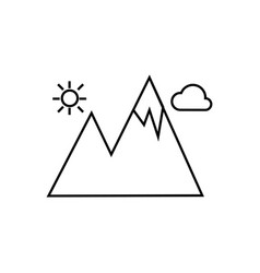 mountain icon isolated sign vector image