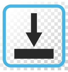 Move Bottom Icon In a Frame vector