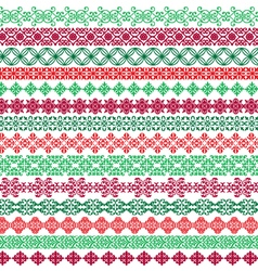 ornate christmas borders vector image