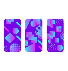 Phone case mockup memphis pattern background vector