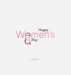 pink typographical design elementshappy womens vector image