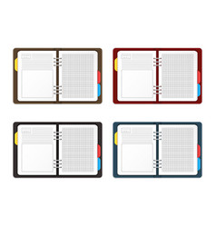 Realistic detailed 3d empty template organizer vector
